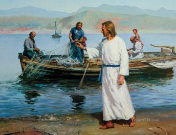 Christ and fishermen Oil Paintings