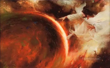 Jehovah Creates the Earth Catholic Christian Oil Paintings