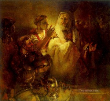 Peter Denouncing Christ Rembrandt Oil Paintings