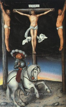 baptism of christ Painting - The Crucifixion With The Converted Centurion religious Lucas Cranach the Elder religious Christian