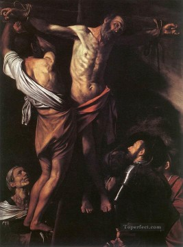 The Crucifixion of St Andrew religious Caravaggio religious Christian Oil Paintings