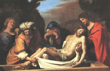 baptism of christ Painting - The Entombment of Christ Guercino