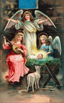 cartoon the baby jesus religious Christian Oil Paintings