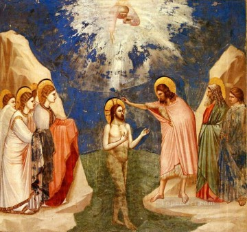 Baptism of Jesus religious Christian Oil Paintings