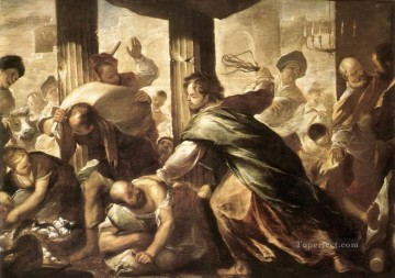 Christ Cleansing The Temple Luca Giordano Oil Paintings