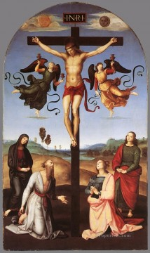 Crucifixion Citta di Castello Altarpiece master Raphael religious Christian Oil Paintings