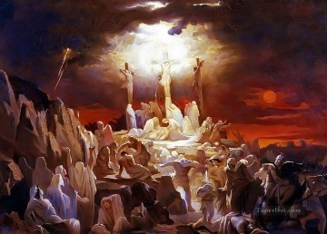 Crucifixion of Jesus Christ Vasili Golinsky Oil Paintings