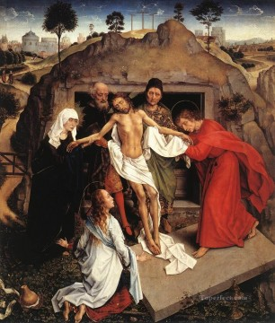 Entombment of Christ religious Rogier van der Weyden Oil Paintings