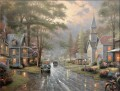 Hometown Evening Thomas Kinkade church