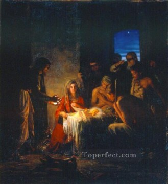 Loch Painting - The Birth of Christ religion Carl Heinrich Bloch