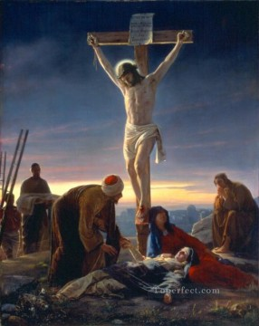 The Crucifixion religion Carl Heinrich Bloch religious Christian Oil Paintings
