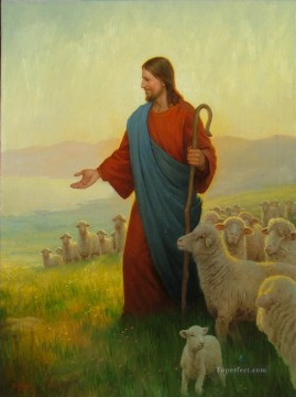 The God Shepherd religious Christian Oil Paintings