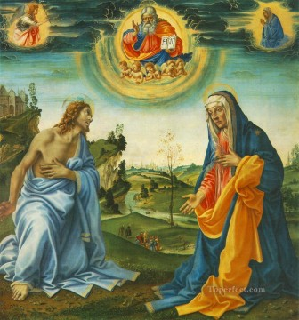 Christian Oil Painting - The Intervention of Christ and Mary Christian Filippino Lippi