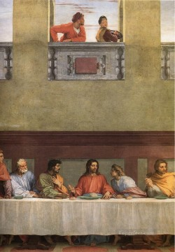 Artworks in 150 Subjects Painting - The Last Supper detail renaissance mannerism Andrea del Sarto religious Christian