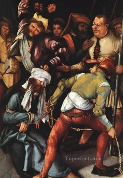 Grunewald Canvas - The Mocking of Christ religious Matthias Grunewald