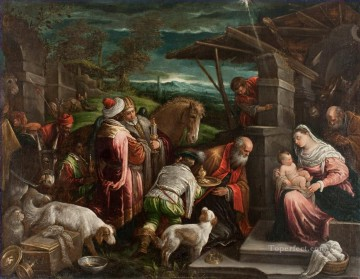 Adoration of the Magi Jacopo Bassano dal Ponte Christian Catholic Oil Paintings