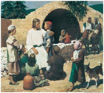 Christ And The Children Oil Paintings
