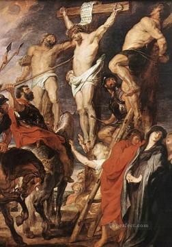 baptism of christ Painting - Christ on the Cross between the Two Thieves Peter Paul Rubens