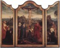 Christ on the Cross with Donors religion Quentin Matsys