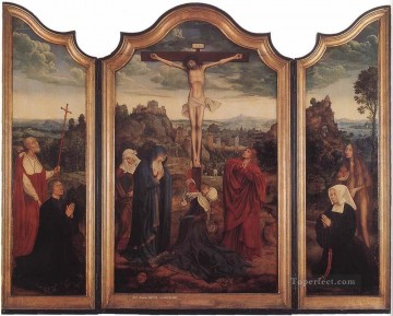 Christ on the Cross with Donors religion Quentin Matsys Oil Paintings