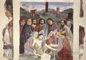 Lamentaion Over The Dead Christ religious Domenico Ghirlandaio Oil Paintings