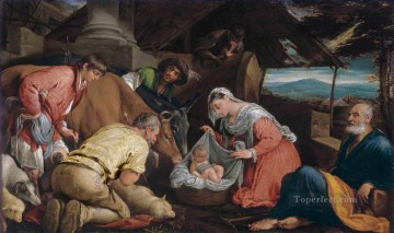 The Adoration of the Shepherds Jacopo Bassano dal Ponte Christian Catholic Oil Paintings