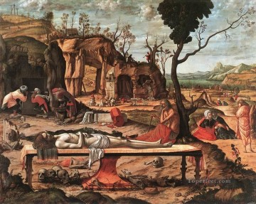 The Dead Christ religious Vittore Carpaccio Oil Paintings