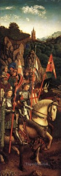 Altarpiece Painting - The Ghent Altarpiece The Soldiers of Christ Jan van Eyck