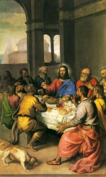 Titian Oil Painting - The Last Supper religious Tiziano Titian religious Christian