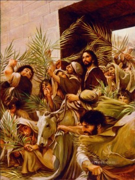 Entry Painting - The Triumphal Entry Catholic Christian