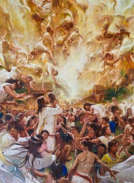 Angels Ministered unto Them Catholic Christian Oil Paintings