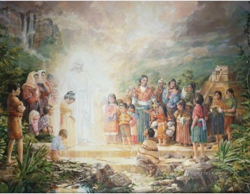 Christ Blessing the Nephite Children Catholic Christian Oil Paintings
