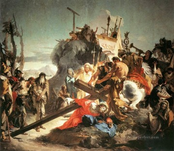 Christ Carrying the Cross religious Giovanni Battista Tiepolo Oil Paintings