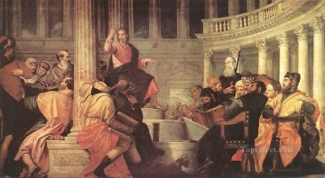 Jesus among the Doctors in the Temple Paolo Veronese religious Christian Oil Paintings
