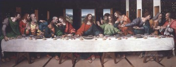 Vinci Oil Painting - Last Supper copy Leonardo da Vinci Giampietrino religious Christian