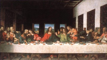 last supper Painting - Last Supper copy Leonardo da Vinci religious Christian