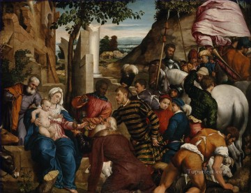 baptism of christ Painting - The Adoration of the Kings Jacopo Bassano dal Ponte Christian Catholic