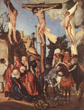 The Crucifixion human body Lucas Cranach the Elder religious Christian Oil Paintings