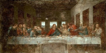 Vinci Oil Painting - The Last Supper pre Leonardo da Vinci religious Christian