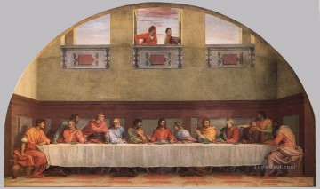 The Last Supper renaissance mannerism Andrea del Sarto religious Christian Oil Paintings