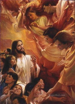 They Saw the Heavens Open Catholic Christian Jesus Oil Paintings