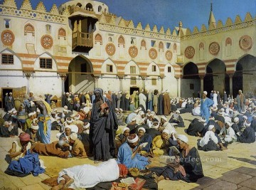 in mosque Ludwig Deutsch Islamic Oil Paintings