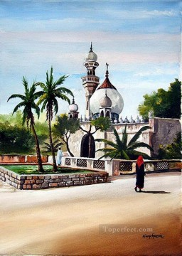 Islamic Painting - Hussein Mombasa Mosque African Islamic