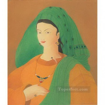 Abdur Rahman Chughtai 07 religious Islam Oil Paintings