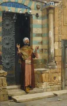 Islamic Painting - At the Door of the Mosque Ludwig Deutsch Islamic