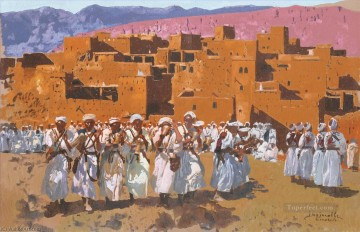 JOUR DE FETE PROBABLEMENT a ANEMITER by Jacques Majorelle Islamic Oil Paintings