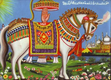 Islamic horse carpet Oil Paintings