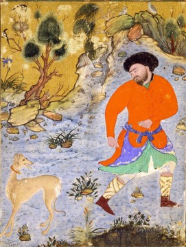 Religious Painting - Mand med salukihund religious Islam