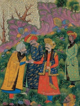 Mahmud and Ayaz and Shah Abbas I religious Islam Oil Paintings