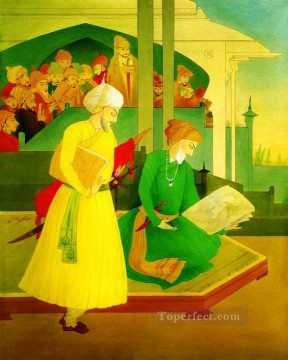 Religious Painting - shah jahan and ustad ahmad mimar religious Islam